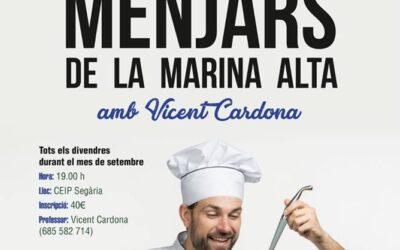 """CURS DE CUINA """"MENJARS DE LA MARINA ALTA"""""""
