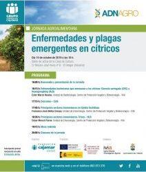 """JORNADA AGROALIMENTARIA """"ENFERMETATS I PLAGUES EMERGENTS EN CÍTRICS"""""""