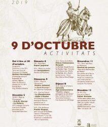 PROGRAMACIÓ ACTIVITATS 9 D'OCTUBRE 2019
