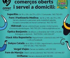 COMERÇOS DEL VERGER OBERTS I AMB SERVEI A DOMICILI