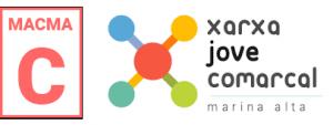LA XARXA JOVE COMARCAL DE LA MARINA ALTA I LA MACMA ENS INFORMEN DEL SERVEI DE WHATSAPP