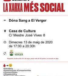 DONACIÓ DE SANG EN EL VERGER