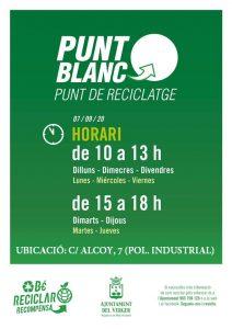 AMPLIACIÓ DE FORMA PROVISIONAL DE L'HORARI DEL PUNT BLANC