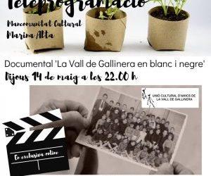 """DOCUMENTAL """"LA VALL DE GALLINERA EN BLANC I NEGRE"""""""