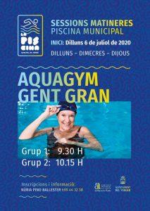 """AQUAGYM PER A """"GENT GRAN"""" ESTIU 2020"""