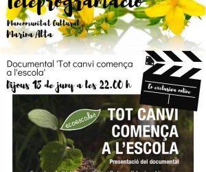 """DOCUMENTAL """"TOT CANVI COMENÇA EN L'ESCOLA"""""""