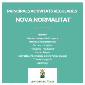 """PRINCIPALS ACTIVITATS REGULADES EN LA """"NOVA NORMALITAT"""""""