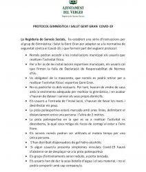 PROTOCOL GIMNÀSTICA I SALUT GENT GRAN COVID-19