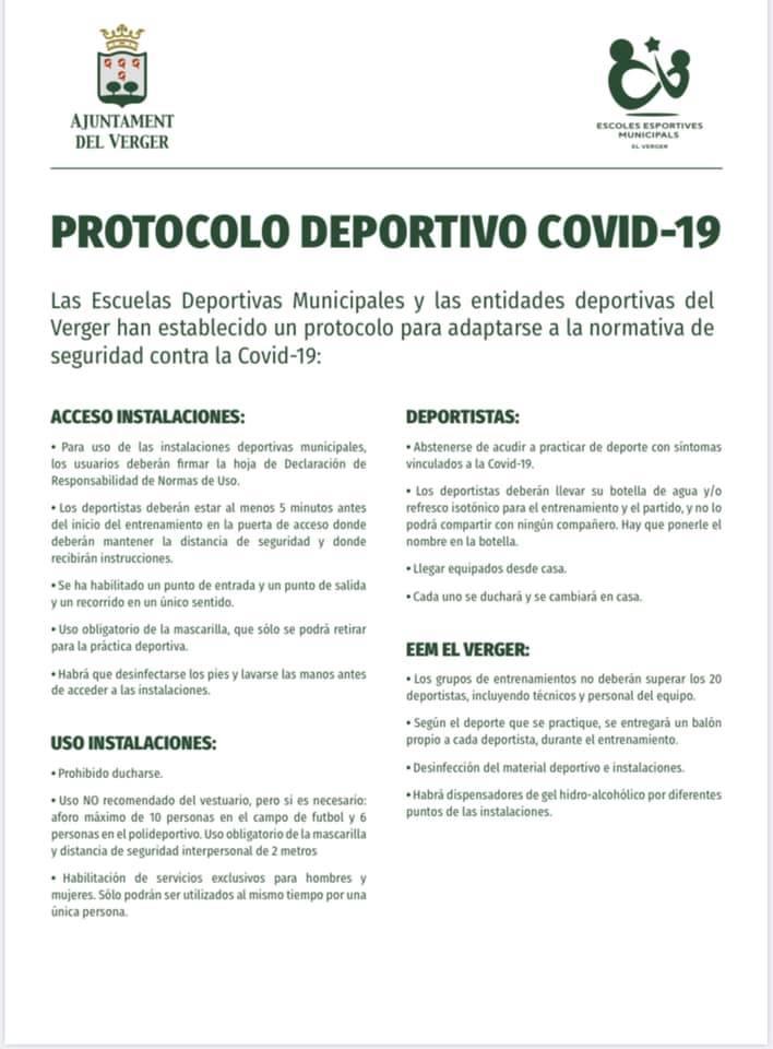 PROTOCOLO DEPORTIVO COVID-19